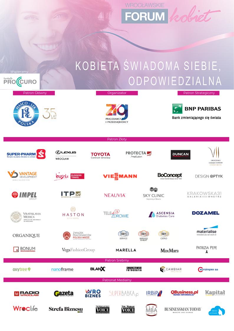 Partnerzy VII Wrocławskie Forum Kobiet