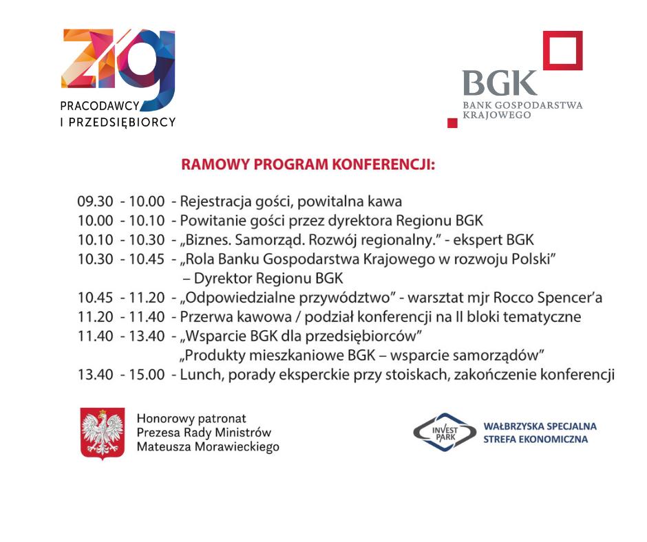 """Regionalna konferencja BGK """"Biznes. Samorząd. Rozwój regionalny."""""""